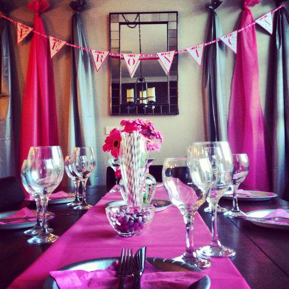 Bachelorette parties pink bachelorette party and parties for Bachelorette party decoration ideas