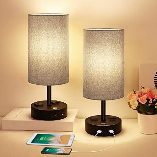 Table Lamp Bedside Lamp With Usb Port 3 Way Dimmable Touch Lamp Table Lamps For Bedrooms E26 Led Bulbs Table Lamps For Bedroom Small Desk Lamp Bedside Lamp Touch table lamps bedroom