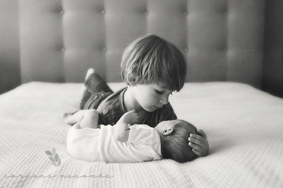 frère, soeur, aîné, lifestyle, couché