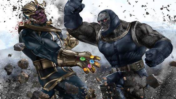 Darkseid Punching Thanos