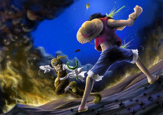 Luffy vs. Usopp. Saddest fight ever.