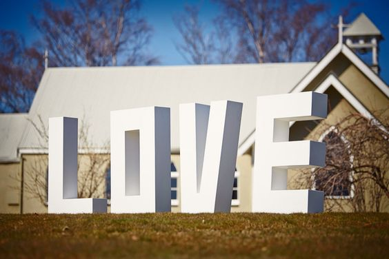 Large LOVE letters are perfect for group wedding photos LOVE letters for hire see www.wanakadreams.co.nz