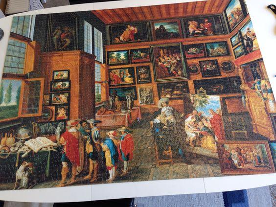 Motiv:Italiensk kunstmuseum  3000 Brikker Købt i boghandel