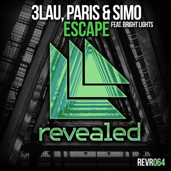 3LAU, Paris & Simo, Bright Lights – Escape (single cover art)