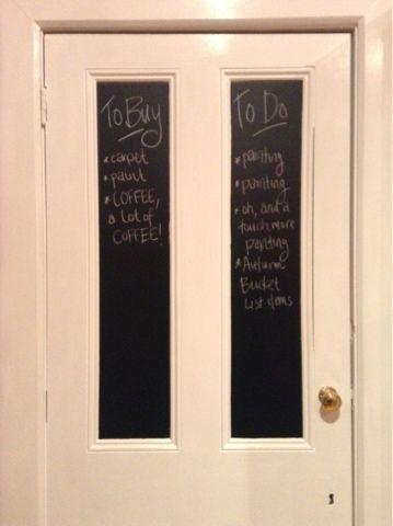 365 DAYS OF PINTEREST CREATIONS: HB Day 10: Kitchen Chalk Board