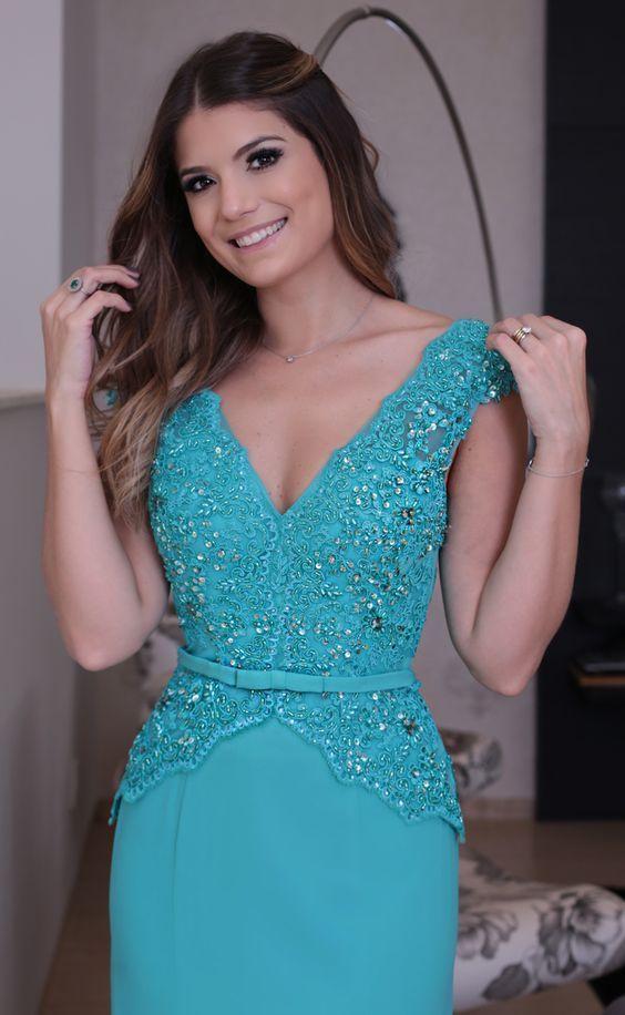 1669f113623 70 modelos de vestidos longos de renda lindos para festa