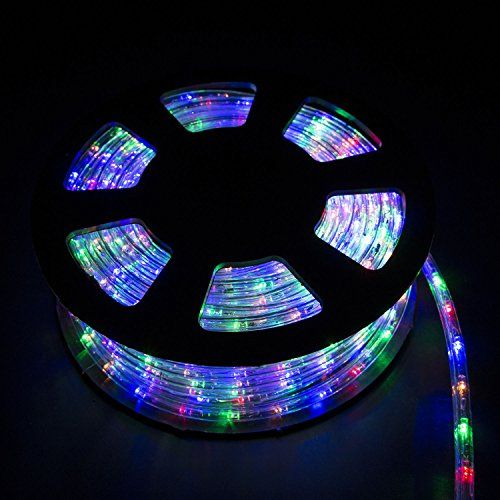 New Mtng 100 Ft Xmas Led Rope Lights 110v Yard Home Party Decorative Inoutdoor Lighting Continue To The Pro Led Rope Lights Led Outdoor Lighting Rope Light