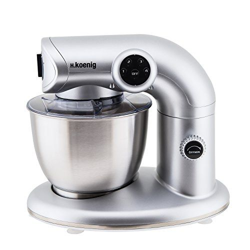 H Koenig Km80 Robot Petrin Multifonctions Silver 1000 W Fouet Cuisine Plinthe Cuisine Batteur Cuisine