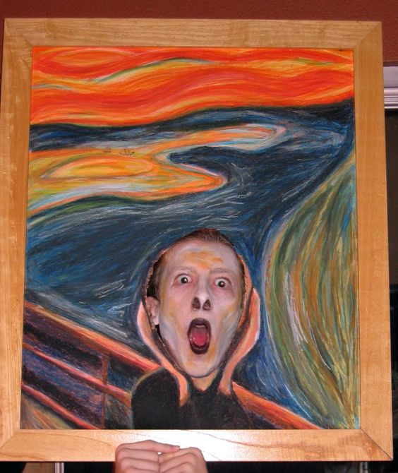"Famous Painting Halloween Costume... Edvard Munch's ""The Scream."""