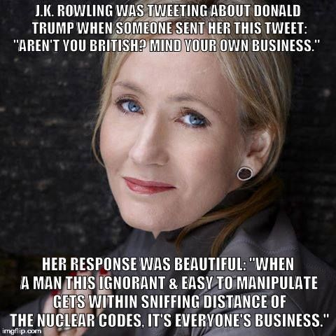 Image result for j.k. rowling quotes about trump