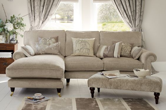 Kingston laura ashley and sectional sofas on pinterest for Ashley beige sofa chaise