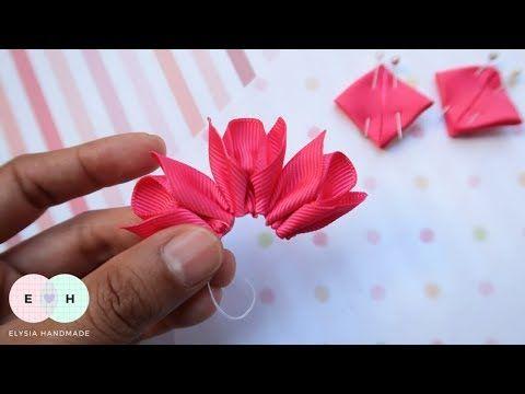Amazing Ribbon Flower Work Hand Embroidery Flowers Ribbon