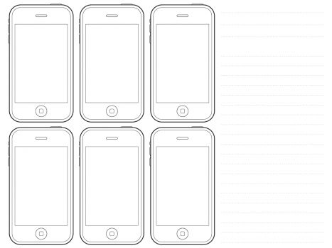 Wireframe, Printable templates and Templates