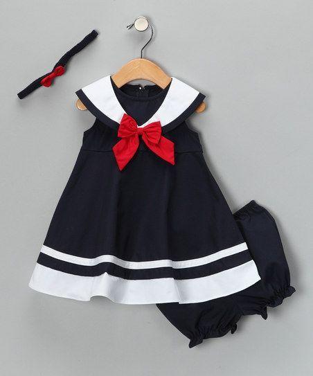 Good Lad Navy Nautical Dress Set Infant Toddler Amp Girls