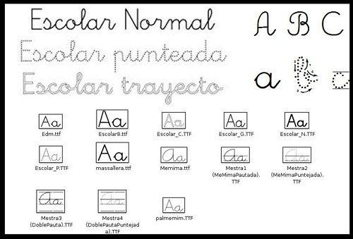 Tipos de letra escolares para realizar fichas trabajos - Fuente letra infantil ...
