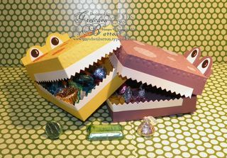 ***NEW***  Gator Goodies Treat Boxes - see my bog for more pictures and information -- http://gretchenbarron.typepad.com/my_weblog/2014/06/grrr-gator-goodies-treat-boxes-are-the-newest-inspiration-in-action-critter-kits.html  Thanks for looking -- blessings, Gretchen