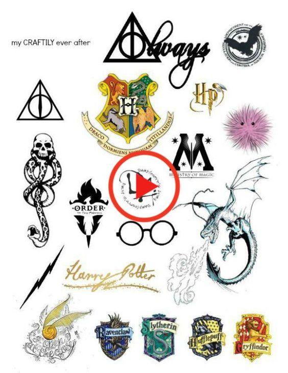 Harry Potter Temporary Tattoos In 2020 Harry Potter Symbols Harry Potter Tattoos Harry Potter Drawings