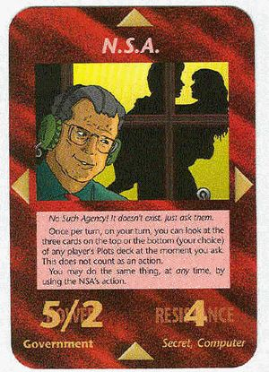 ★ ‿ ★ ★ #ANONYMISS ✰Illuminati Card Game 1995 - NSA