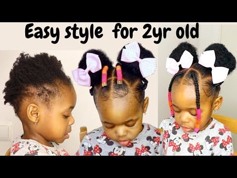Easy And Quick Hairstyle For 2yr Old Toddler Kids Little Black Girls On Short Hair Black Toddler Girl Hairstyles Kids Hairstyles Black Baby Girl Hairstyles