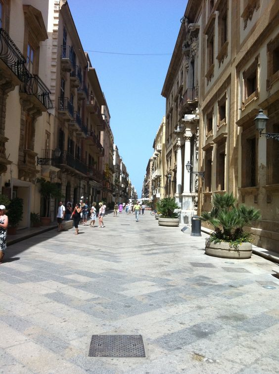 Main street in Trapani, Sicily www.tuscanytennis.com