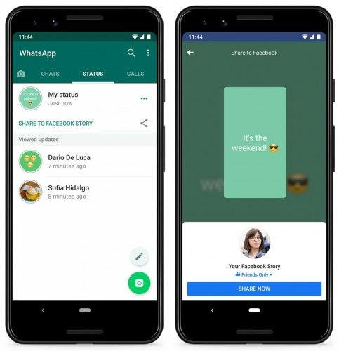 Whatsapp Status Updates Can Now Be Shared As A Facebook