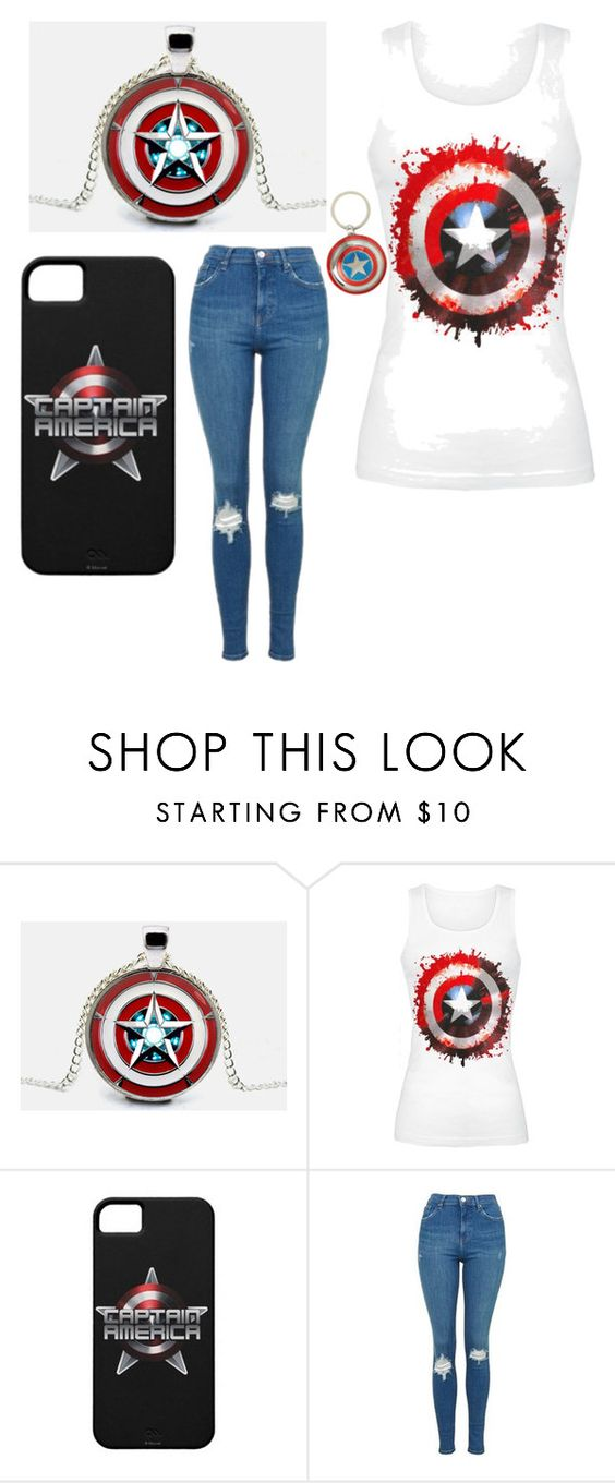 """""""Captain America #marvelsbest"""" by squid191100 ❤ liked on Polyvore featuring Reactor and Topshop"""