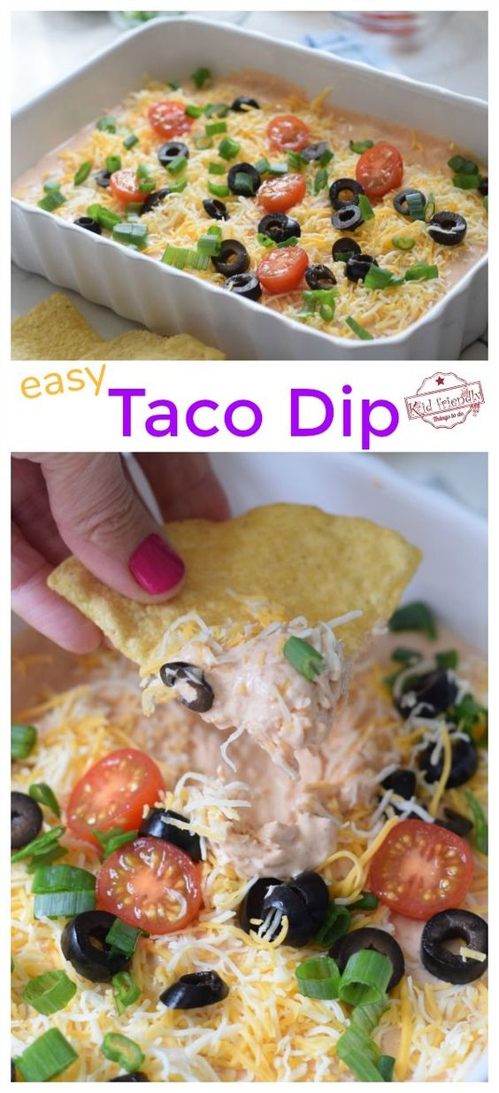 The Best Taco Dip with Cream Cheese and Salsa (Quick and Easy to Make) | Kid Friendly Things To Do