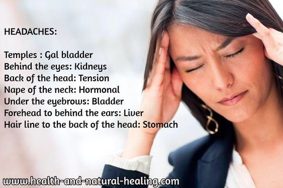 What part of your head hurts will tell you the cause of your headache http://www.health-and-natural-healing.com/headaches-natural-remedy.html