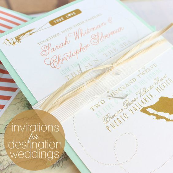 Destination Wedding Invitations Destination Weddings And Wedding Invitations On Pinterest