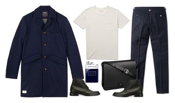 """Menswear winter wardrobe"" by thestyleartisan ❤ liked on Polyvore featuring Thom Browne, WeSC, Yves Saint Laurent, Cartier, Alex Mill, House of Sillage, mens, men, men's wear and mens wear"