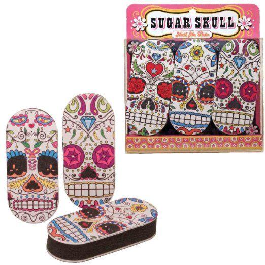 Nail File Sugar Skull Set Of 3