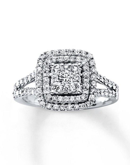 new kay jewelers engagement ring in white gold with round cut i style i https theknot - Kays Wedding Rings