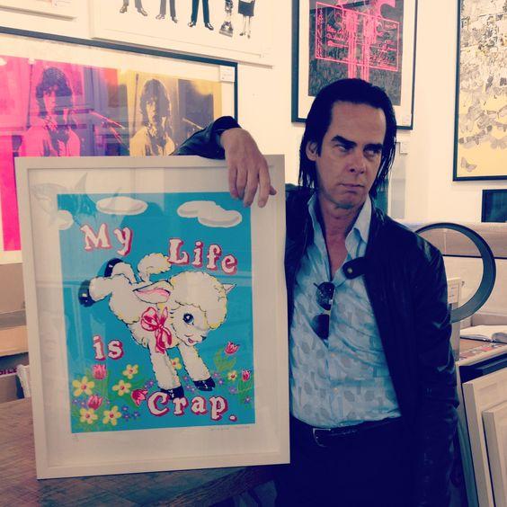 Nick Cave & 'My Life is Crap' print