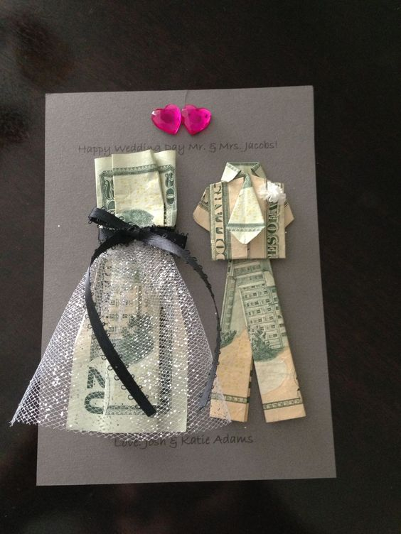 A creative way to give money as a wedding gift!  #weddinggift #moneygift #wedding