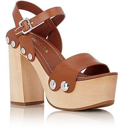 Prada Ankle-Strap Clog Sandals - Platforms - Barneys.com