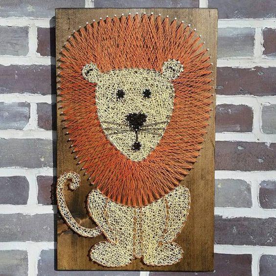 49 99 String Art Lion Lion Nursery Art Lion Sign Jungle