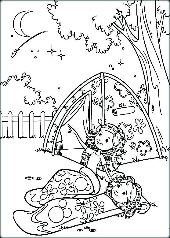 Camping Coloring Page Camp Coloring Pages Camping Coloring Page