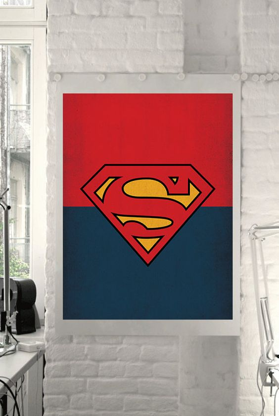 Dc universe comic store superheroes minimalist superman for 1950s minimalist house