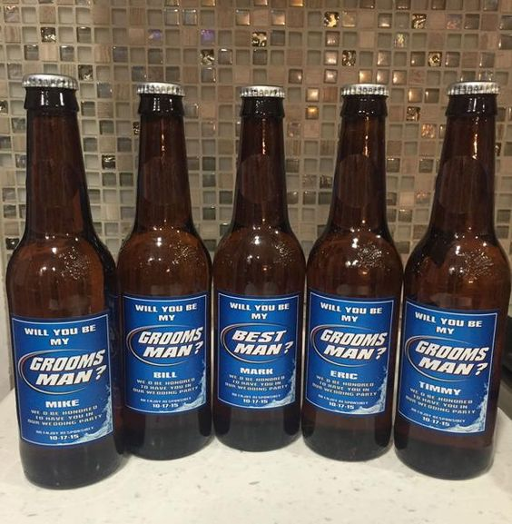 A Custom BeerLabel created for you to ask theDudes in your Lifeto be in your Wedding or for you to present them asyour Groom's Gifts.Your Best Friends, Coll