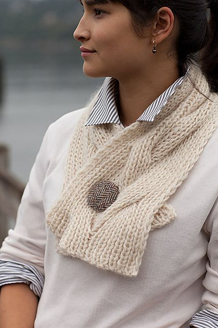 Ravelry: Reversible Cable Neck Wrap & Scarf pattern by Churchmouse Yarns and Teas