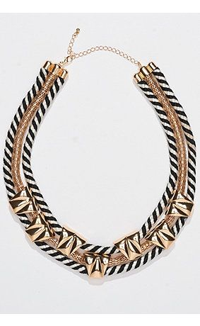 Get this necklace on http://www.studio-untold.com/de-DE/modell/kette-3-reihig-mit-gold-dekoren/699868/?color=69986890&campaign=sm/pinterest