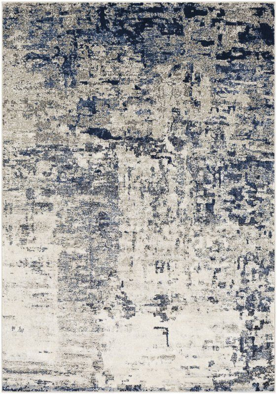Royalston Modern Abstract Navy Ivory Area Rug With Images Area