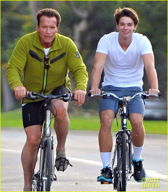 Patrick & Arnold Schwarzenegger: Sunday Bike Riders! | patrick arnold schwarzenegger sunday bike riders 02 - Photo