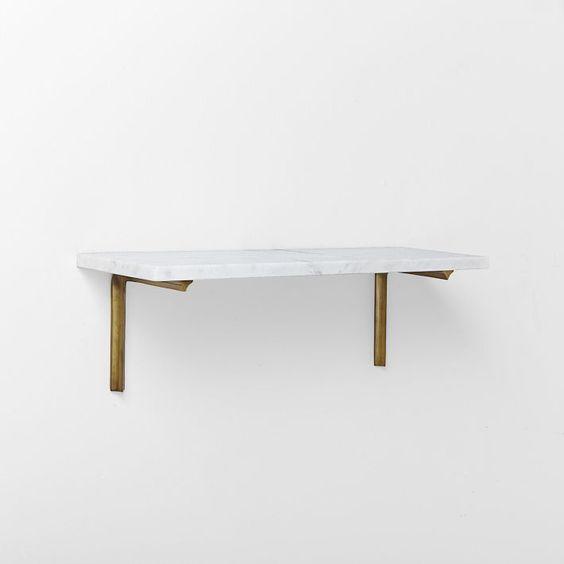 Marble Shelf + Shape Bracket Set