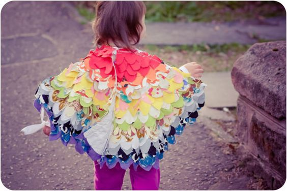 Upcycled Vintage Fabric Dress-Up Wings. By KatGoldinDesigns.