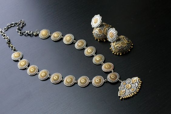 Dual Tone Indian Necklace