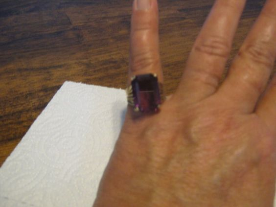 60+ Year old Amethyst & 18 Karat Gold Ring, Size 7 or 7.5 #StampedHGE