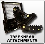 Very interesting attachment! Cuts trees and brush with ease. Very heavy duty attachment for skid steer or frontloader.