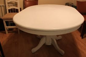 Finally, my blog has a completed home project! (and lots to come)  I wasn't planning to refinish my table, because I was convinced I wanted...