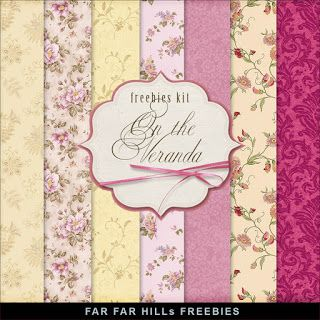 FREE Freebies Kit of Backgrounds - On the Veranda by Far Far Hill